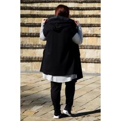 Черно Асиметрично елече със страничен цип | SIRENA plus онлайн магазин