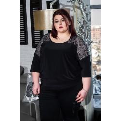 Свободна туника с бляскави елементи  | Онлайн магазин за модерна макси мода SIRENA plus