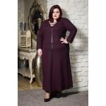 Топла зимна рокля с шал яка в бордо   Онлайн магазин за модерна макси мода SIRENA plus