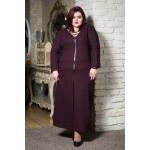 Топла зимна рокля с шал яка в бордо | Онлайн магазин за модерна макси мода SIRENA plus
