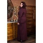 Права рокля от пунта с акцент в бордо| Онлайн магазин за модерна макси мода SIRENA plus