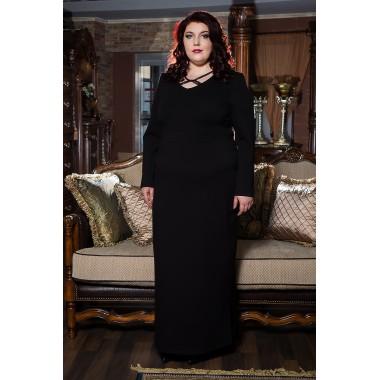 Права рокля от пунта с акцент в черно| Онлайн магазин за модерна макси мода SIRENA plus