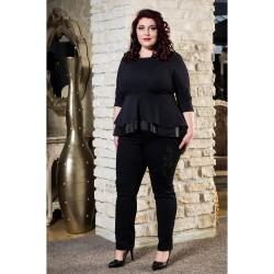 Парти туника с пеплум и кожа | Онлайн магазин за модерна макси мода SIRENA plus