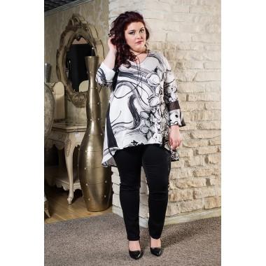 Сатенена туника с акцент  | Онлайн магазин за модерна макси мода SIRENA plus