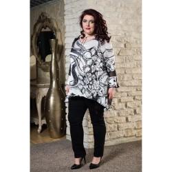 Сатенена туника с акцент    Онлайн магазин за модерна макси мода SIRENA plus