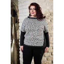 Блуза с ламе от тънко плетиво