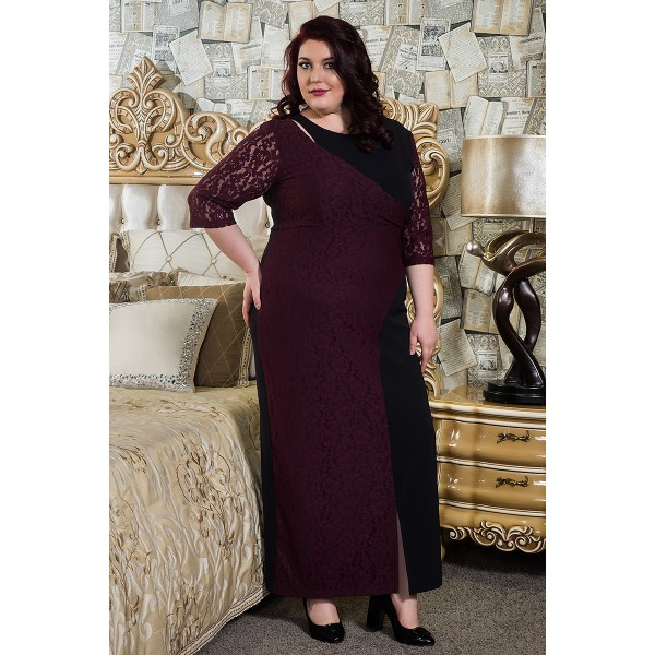 Дълга права рокля Premium selection | Онлайн магазин за модерна макси мода SIRENA plus