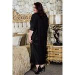 Свободна рокля с дантела и кожа    Онлайн магазин за модерна макси мода SIRENA plus