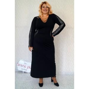 """Ежедневна дълга рокля с остро деколте и връзки """"Калина"""""""