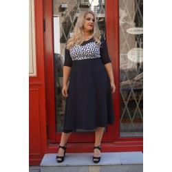Къса рокля Симоне с бяла горна част | SIRENA plus модерна макси мода