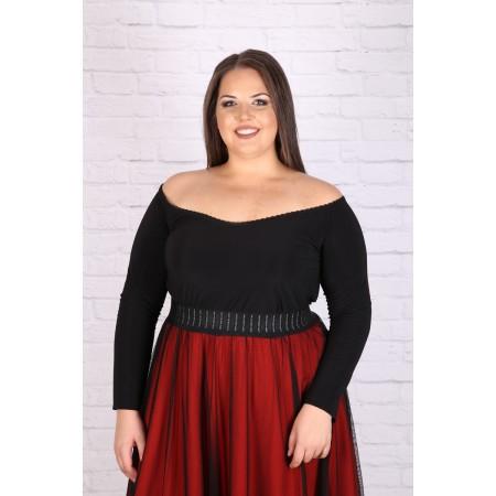 Спортна черна блуза 215 | Онлайн магазин за модерна макси мода
