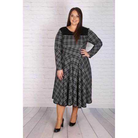 """Макси карирана рокля 390 """"МИХАЕЛА""""   Онлайн магазин за модерна макси мода"""