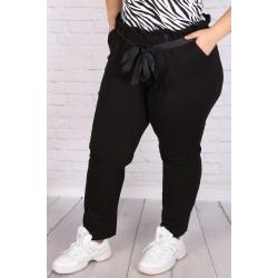 Макси панталон с висока талия и коланче