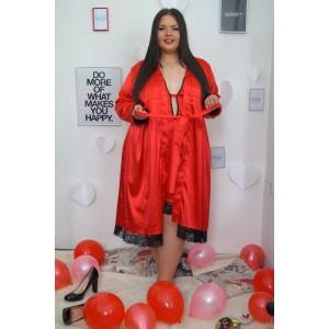 Червен секси халат