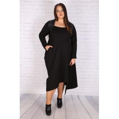 Макси асиметрична есенна рокля   SIRENA plus онлайн магазин