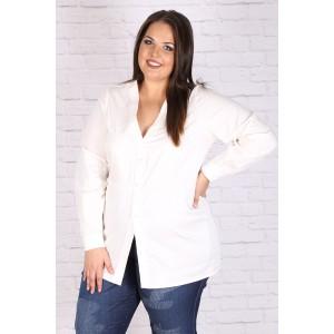 Макси бяла риза-туника