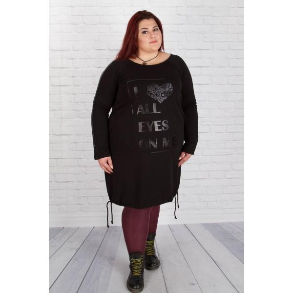 Къса рокля  I love all eyes on me Черно | SIRENA plus онлайн магазин