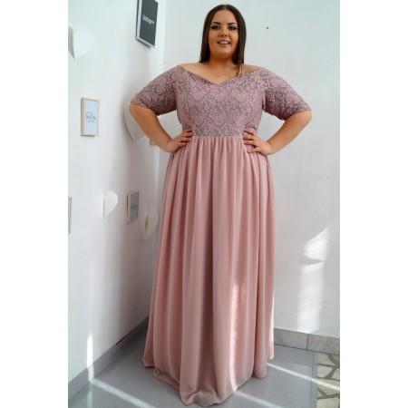 Официална дълга рокля ВИВИ в пепел от рози