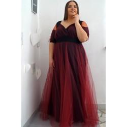Официална дълга рокля в черно и тюл ДЖЕСИКА 2