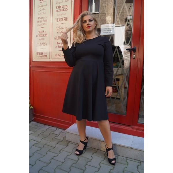 Черна рокля Класик | SIRENA plus модерна макси мода