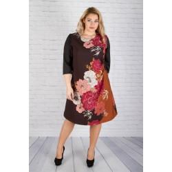 "Асиметрична елегантна рокля ""НЕФИ' | SIRENA plus модерна макси мода"