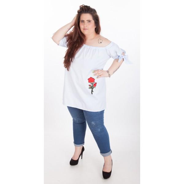 Риза-туника с цвете | Онлайн магазин за модерна макси мода SIRENA plus