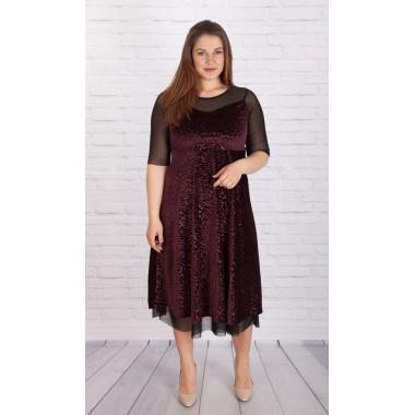 Нежна рокля от плюш | Онлайн магазин за модерна макси мода SIRENA plus