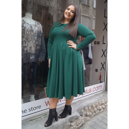 Елегантна зелена рокля