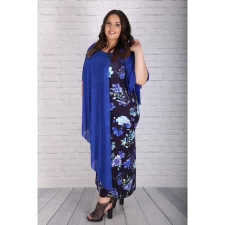 """Лятна дълга рокля в синьо """"Кария""""   Онлайн магазин за модерна макси мода"""
