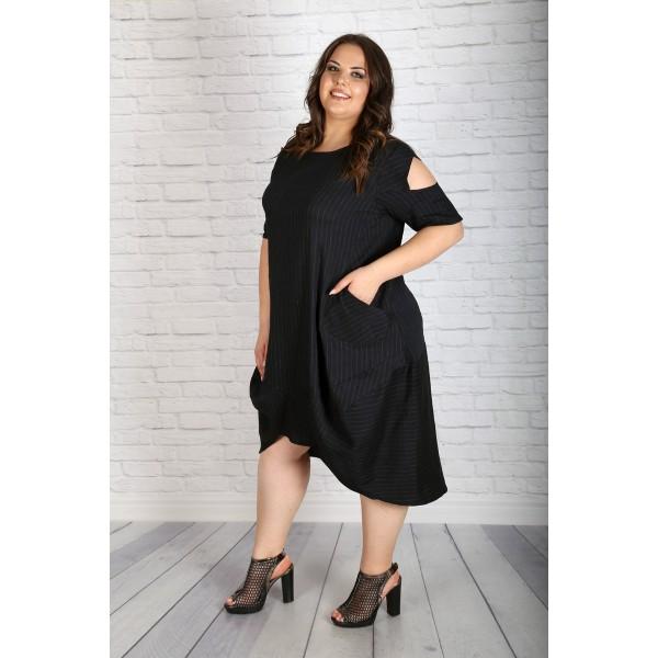 """Тъмно синя памучна рокля """"Марина""""   Онлайн магазин за модерна макси мода"""